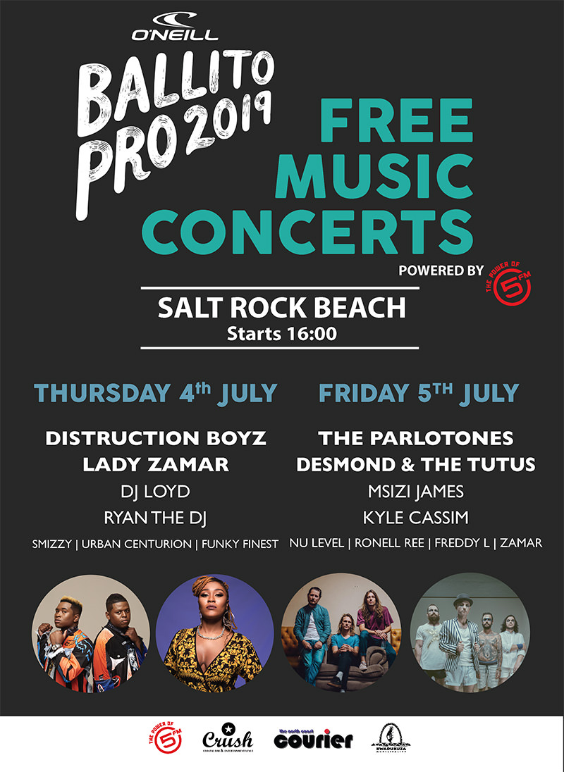 The Ballito Pro Free Music Concerts 2019 Powered by 5FM